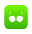 glasses for blind icon digital green vector image vector image