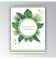 green white beautifull cover circle lable flayer vector image vector image