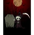 grim reaper cartoon vector image vector image
