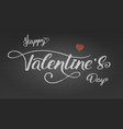 happy valentines day greetings poster with design vector image