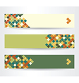 horizontal banners with squares vector image