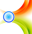 indian flag background vector image vector image