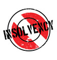 insolvency rubber stamp vector image vector image