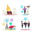 internet technology 2x2 design concept vector image vector image