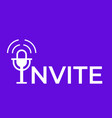 invite to audio chat microphone icon vector image