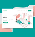 landing page template gym room concept vector image