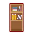 line color education bookcase with books vector image vector image