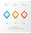 management icons set collection of dinner vector image vector image