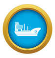 marine ship icon blue isolated vector image vector image