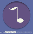 musical note character singing and the music vector image