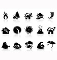 Natural disaster icons set vector image vector image