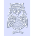 paper cute of doodle owl vector image