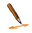 pencil and arrows vector image