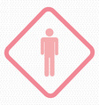 people pictogram symbol on sign vector image vector image