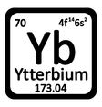 Periodic table element ytterbium icon vector image vector image