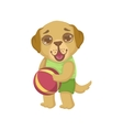 Puppy Holding The Ball vector image vector image