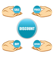 sale and discount tags vector image vector image