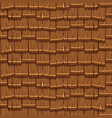 seamless old brown wood roof tiles vector image vector image