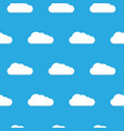 seamless pattern clouds white clouds pattern vector image