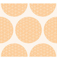 Seamless pattern with circles and line pattern vector image vector image