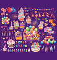set elements for birthday party vector image vector image
