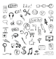 set of hand drawn icons and design elements vector image vector image