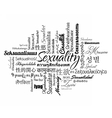 Sexuality word cloud vector image vector image