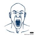 Shouting or yawning man Opened mouth vector image vector image