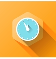 simple of clock icon in flat style vector image vector image