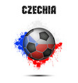 soccer ball in the color of czechia vector image vector image