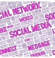 Social Media Words Seamless Pattern vector image