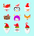 sticker icons set vector image vector image