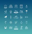 Summer Holidays Icon Set Line Art vector image