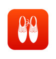 tied laces on shoes joke icon digital red vector image vector image