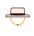 tourist hat in line art vector image