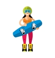 Wakeboarding Woman Flat style colorful vector image vector image