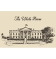 White House in Washington DC hand drawn sketch vector image vector image
