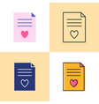 wish list concept icon set in flat and line styles vector image vector image