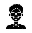 young man with elegant clothes and sunglasses vector image