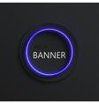 modern neon banner background vector image