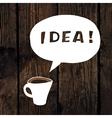 coffee idea concept vector image