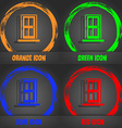 Door icon sign Fashionable modern style In the vector image