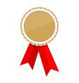 golden ribbon awards template vector image