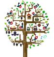 tree with inhabitants vector image