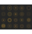 Abstract golden Vintage Sunbusrt elements set vector image