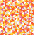 Abstract background of color triangles vector image vector image