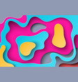 abstract background with paper cut shapes vector image