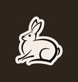 abstract icon of a rabbit shape vector image vector image