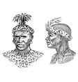 african tribes portraits of aborigines in vector image vector image