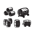black barrels icons vector image